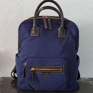 Frances Valentine New York Blue Nylon Backpack